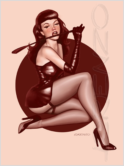 Lorenzo artworks, pin-up art