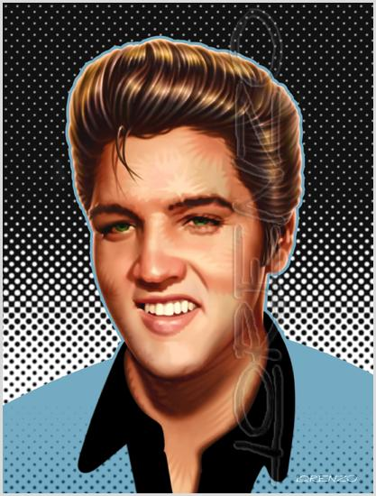 Lorenzo artworks, portraits, Elvis Presley