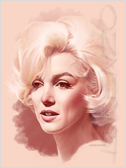 Lorenzo artworks, portraits, Marilyn Monroe