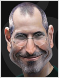Lorenzo artworks, caricatures, Steve Jobs