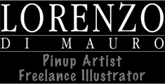 Lorenzo artworks, pin-up art, fantasy paintings, portraits, caricatures